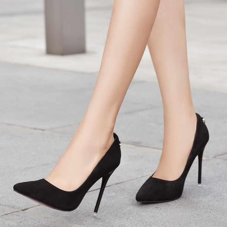 Size Lớn 11 12 13 14 Nữ Giày cao gót nữ giày nữ người phụ nữ Bơm Tập thanh lịch đơn giản Giày cao gót với dẹt