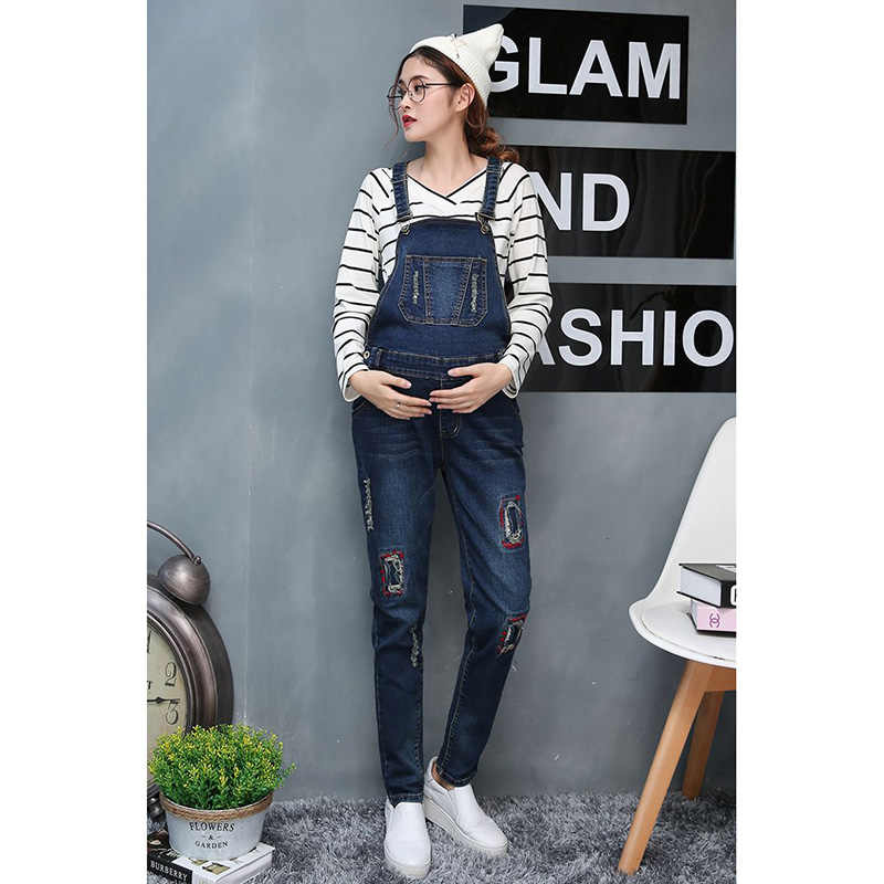 01cd3950ae512 Detail Feedback Questions about Spring Trousers Maternity Jeans Pants  Gravida Clothing Dungarees Pregnancy women Clothes Bib overalls Size 3XL  Salopette ...