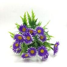 2017New Simulation Sunflower branches Artificial Plants For Wedding Home Decor Plantas de flores artificiales Fake Flower plant