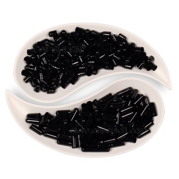 Free Shipping!!!  Joined Empty Gelatin Size 0 5000 Pieces / Carton Black Colored Capsules For Capsule Filler Machines