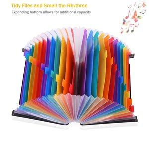 Image 5 - Expanding File A4 Folder Office School Portfolio File folders Document Organizer Plastic 24 Pockets 3000 Sheets Large Capacity