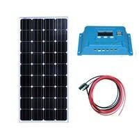 Kit Panel Solar 12v 150w Solar Charging Controller 12v/24v 10A Solar Batterie Solar Camping System Motorhome Caravan Car RV