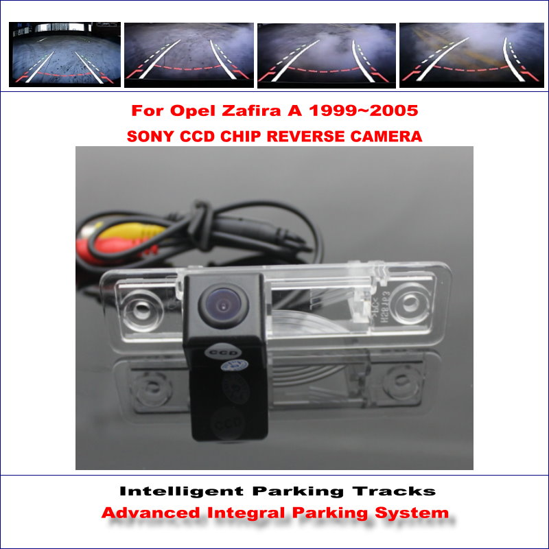 De haute Qualité 3089 Puce Intelligentized Arrière Caméra Pour Opel Zafira Un 1999 ~ 2005/NTSC PAL RCA AUX HD SONY CCD 580 TV lignes