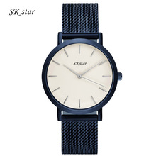 Waterproof Man Woman Watch Gold Silver Casual Watch Luxury Brand SKStar Full Steel Band Quartz Dress Wrist watches Lover's Gift