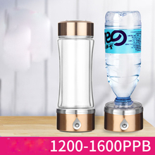 SPE/PEM Rich Hydrogen Water Generator Anti-oxidation Alkaline Water Ionizer Pitcher Dual Use Hydrogen Healthy Smart Bottle 420ml цена и фото