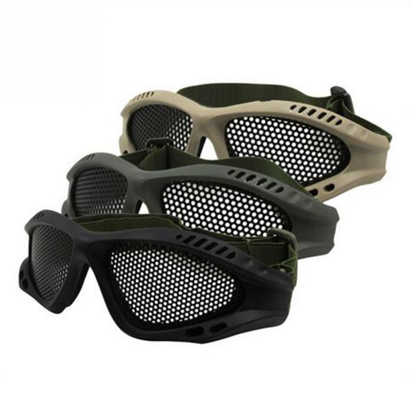 2018 New Arrivials Tactical Paintball Goggle Adjustable Goggles Eye Protect CS Metal Mesh Glasses for Airsoft War Games