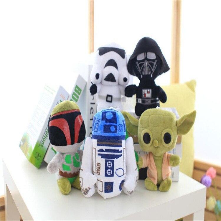 Звездные войны йода peluche плюшевые игрушки для детей pelucia Juguetes Дарт вейдор Штурмовик R2-D2 вещи Куклы игрушки для детей Обувь для мальчиков обув...