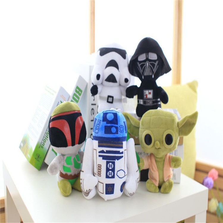 Star Wars Yoda Peluche plush toys Kids Pelucia Juguetes Darth Vador Storm Trooper R2-D2 Stuff Dolls toy for kids Boys Girls