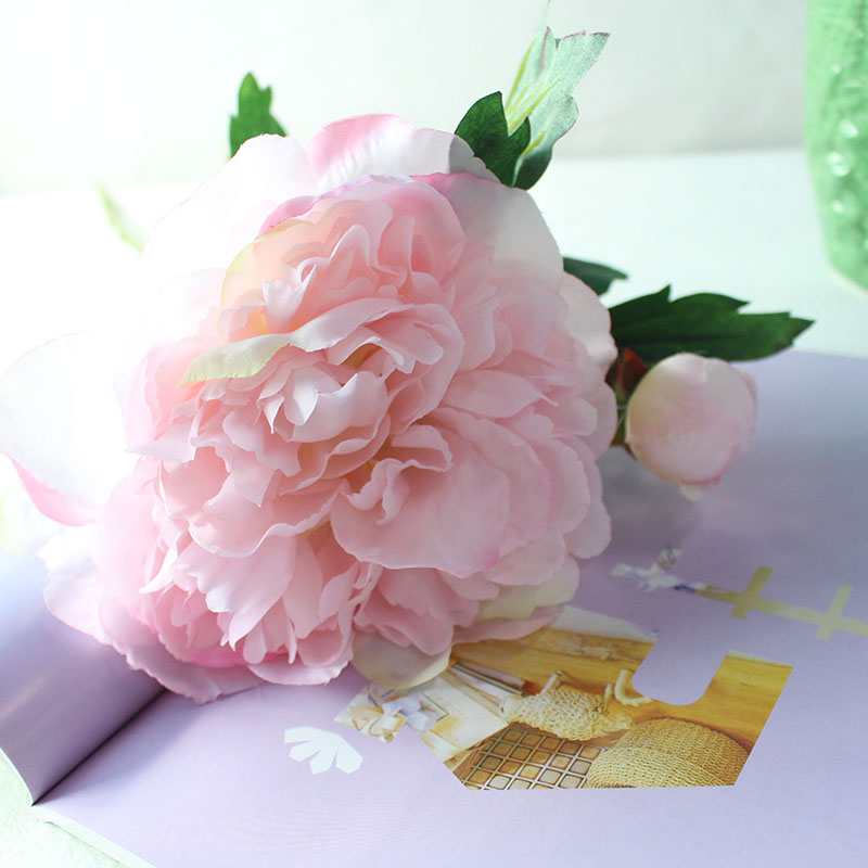 Silk peonies roses artificial flowers (23)