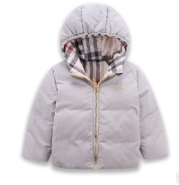 2016 autumn and winter new boys and girls solid color double-sided wear down jacket