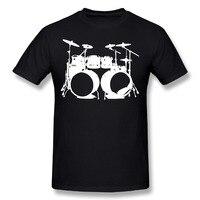 DUTRODU Drumms Drummer Snare Hi Hat Drumset Male Hip Hop Custom Tee Shirts Short Sleeve 100