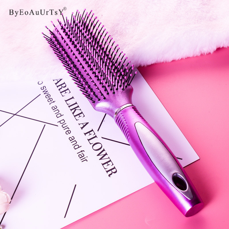 3 Shapes Hair Comb Scalp Massage Comb Hairbrush Bristle& Women Wet Curly Hair Brush for Salon Hairdressing Styling Makeup Tools 3