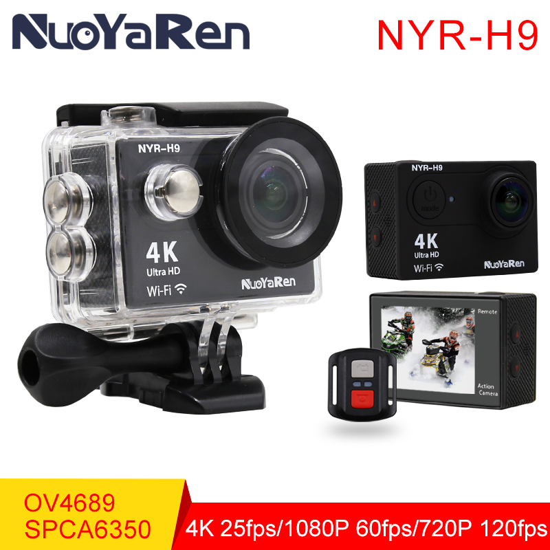 NYR H9 / H9R Action Camera 4K Wifi Ultra HD 1080p/60fps 720P/120FPS Go Waterproof Mini Cam Pro sports camera From NUOYAREN