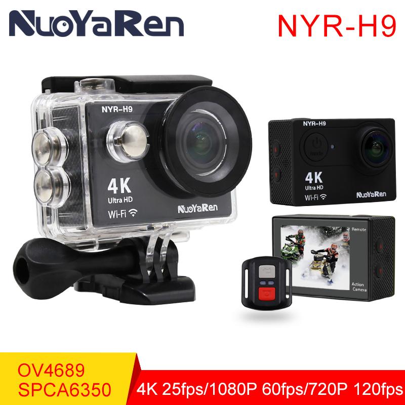 Prix pour NYR H9/H9R D'action Caméra 4 K Wifi Ultra HD 1080 p/60fps 720 P/120FPS Aller Étanche Mini Cam Pro sport caméra De NUOYAREN