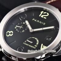 Parnis Menchanical Uhren 44mm Leucht Datum Sapphire st2530 automatische bewegung Männlichen Handgelenk Uhren-in Mechanische Uhren aus Uhren bei