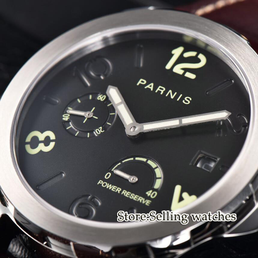 Parnis Menchanical Watches 44mm Luminous Date Sapphire st2530 automatic movement Male Wrist Watches