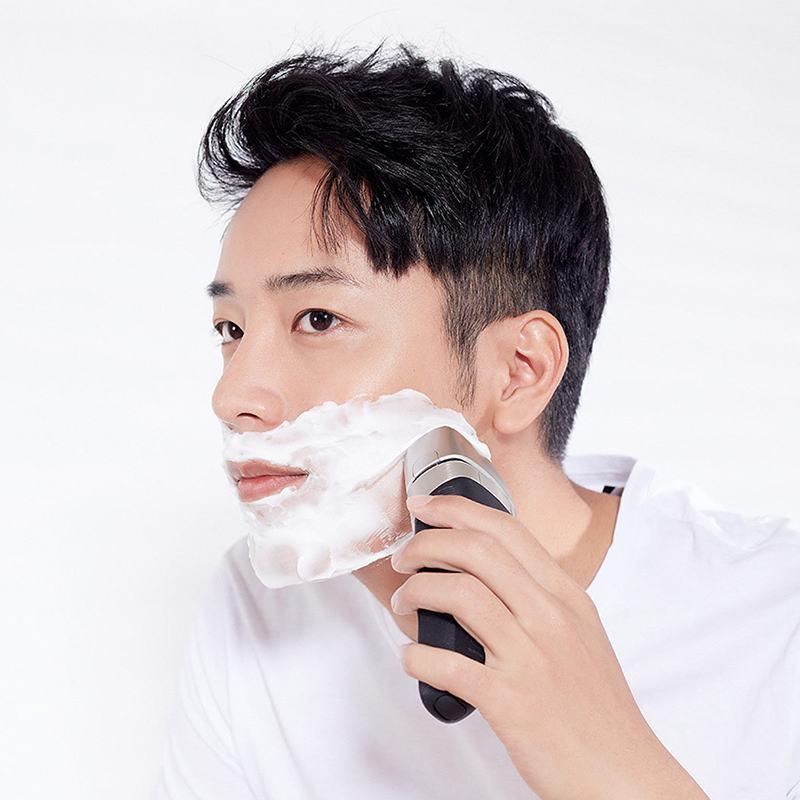 Smate rasoir électrique flottant alternatif hommes lavable USB Rechargeable rasage contrôle intelligent étanche barbe Machine cadeau - 5