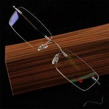 Супер светильник, оправы без оправы, мужские очки, рецепт, чистый титановый сплав, оправа B, женские очки для близорукости