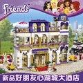 Amigos heartlake grand hotel villa casa juguetes de construcción kit compatible 41101 niñas regalo de navidad