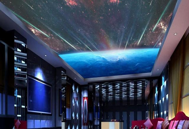Benutzerdefinierte 3d Moderne Decken Wandmalereien Galaxy