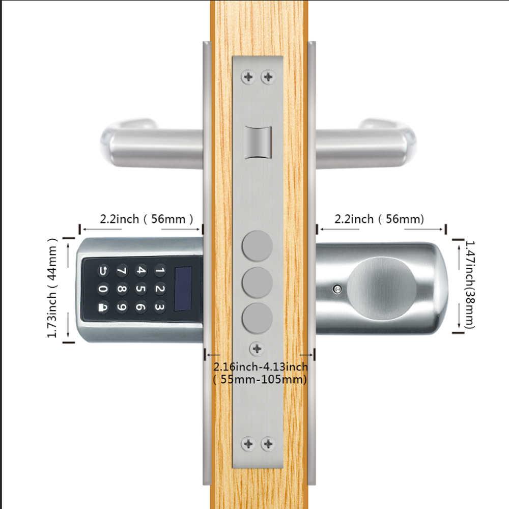 L6PCB Terbaik Smart Lock Aplikasi DIY Elektronik Keypad RFID Kunci Pintu Digital untuk Airbnb Manajemen-Uni Eropa Model