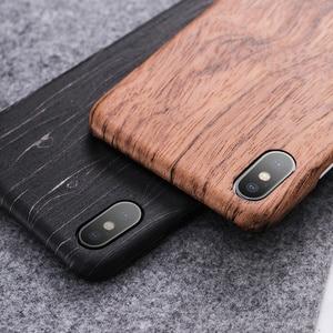 Image 5 - Funda para Apple iPhone 12 Mini 11 Pro X XS Max XR madera de nogal enonía palisandro caoba parte posterior de madera
