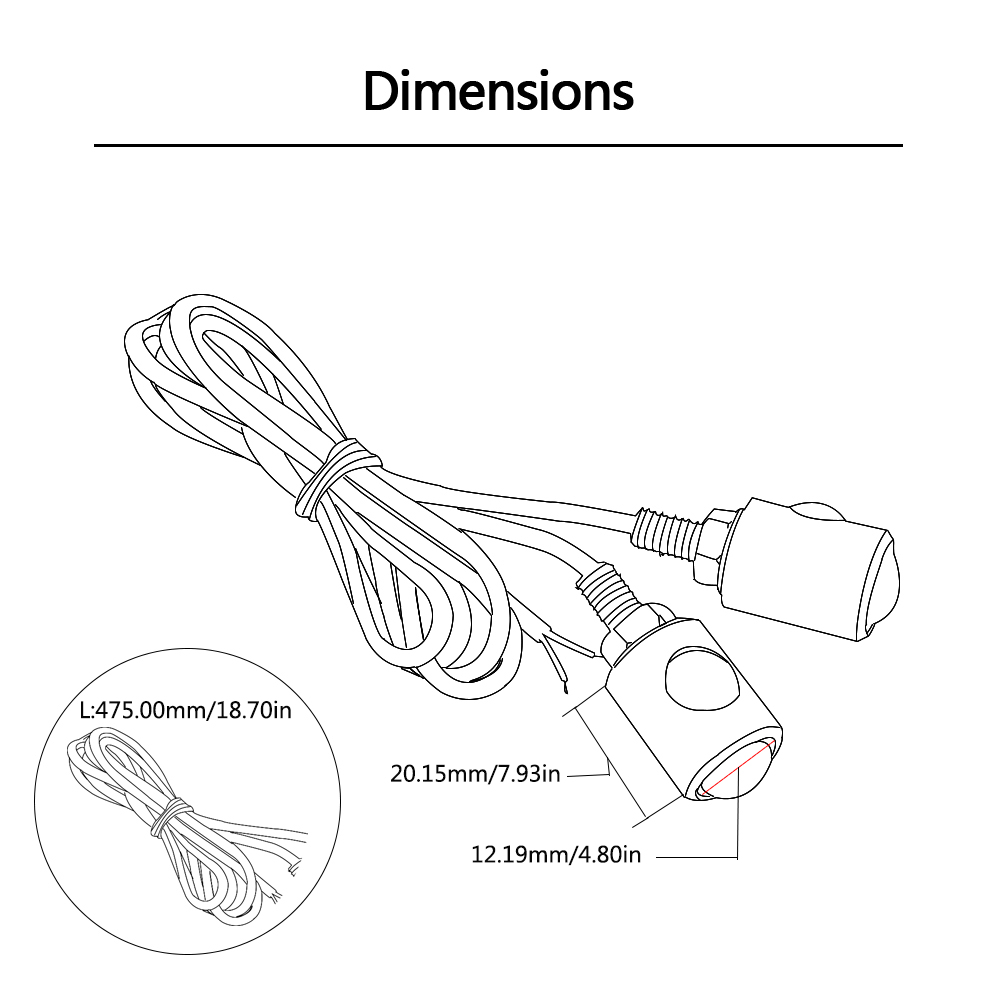 universal motorcycle turn signal light indicators amber led lights for yamaha fz6 xmax 300 tmax 500 [ 1000 x 1000 Pixel ]