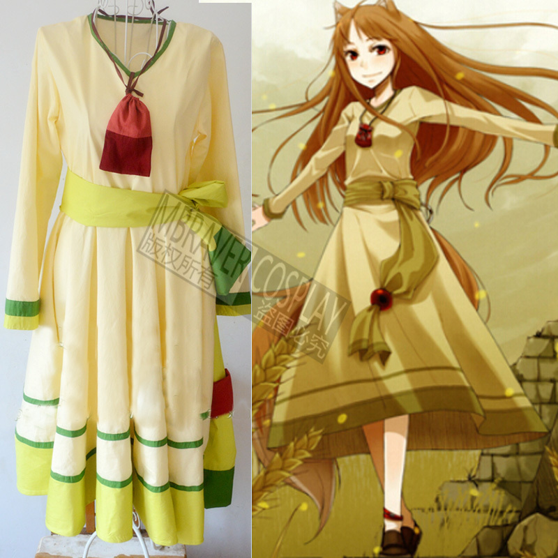 Custom Made Anime Spice and Wolf Holo Cosplay Costume Dress