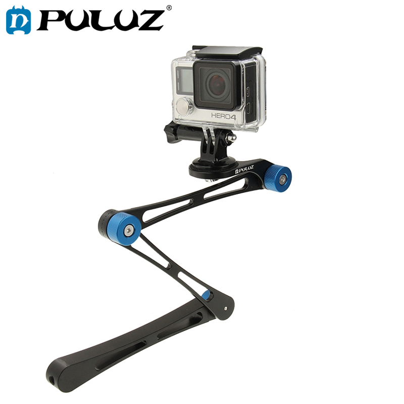 PULUZ 17 inch Adjustable CNC Aluminum Extension Magic Arm Mount Kit for GoPro HERO6 5 5 Session /4 Session 4 3+ 3 2 1, Xiaoyi