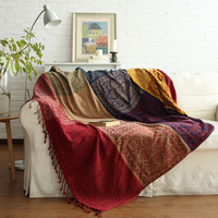 Chenille Sofa Blanket Bohemia Style Blanket For Sofa Living Room Bedroom Multifunction Bedspread Dust Cover Table Cloth Tapestry