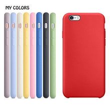 2017 Mobile Phone Cases Phone Cover for iPhone 6 6 Plus Case Fashion Plain Soft Silicone Gel Shell Cat Seal 17 Colors Optional