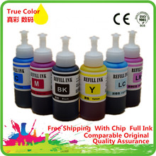Refill Dye Ink Kit For Epson L800 L801 Printing Inkjet Printer No. T6731/2/3/4/5/6 Use Refillable Cartridge Ciss