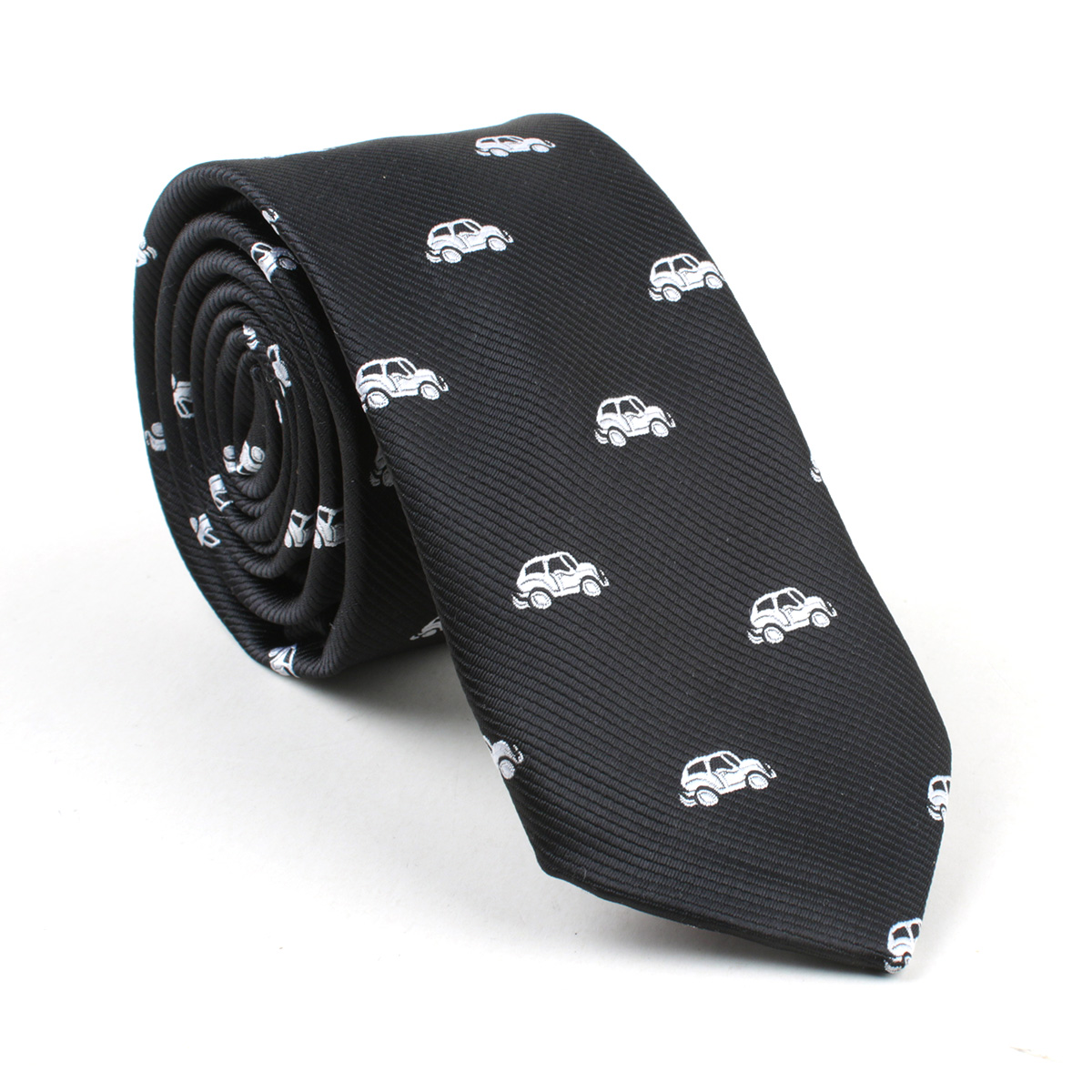 Formal Polyester Jacquard Neckties for Men Car Pattern Neckwear Tie for Wedding Party