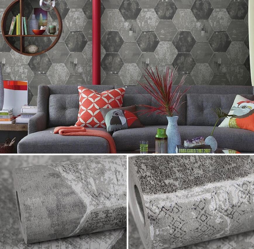 Beibehang европейские Простые ретро цементные штукатурки обои Гостиная Кофейня ТВ настенные работы Нетканые 3d обои рулон