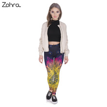 Spring Fashion Women Legins Mandala Lights 3D Printing Sexy Legging High Waist Soft Woman Leggings