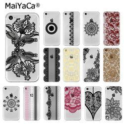 MaiYaCa сексуальный кружевной Цветочный Мягкий силиконовый чехол из ТПУ для Apple iPhone 8 7 6 6S Plus X XS MAX 5 5S SE XR Чехол для мобильного телефона