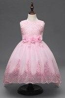 مطرزة طفلة اللباس 4 سنة إلى 12 سنوات المراهقة الفتيات ملابس الاطفال الوردي الأميرة فساتين مهرجان للحزب و الزفاف