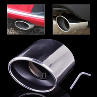 New Chrome Stainless Steel Exhaust Pipe Tail Rear Muffler Tip Pipes For Honda Accord 2 0