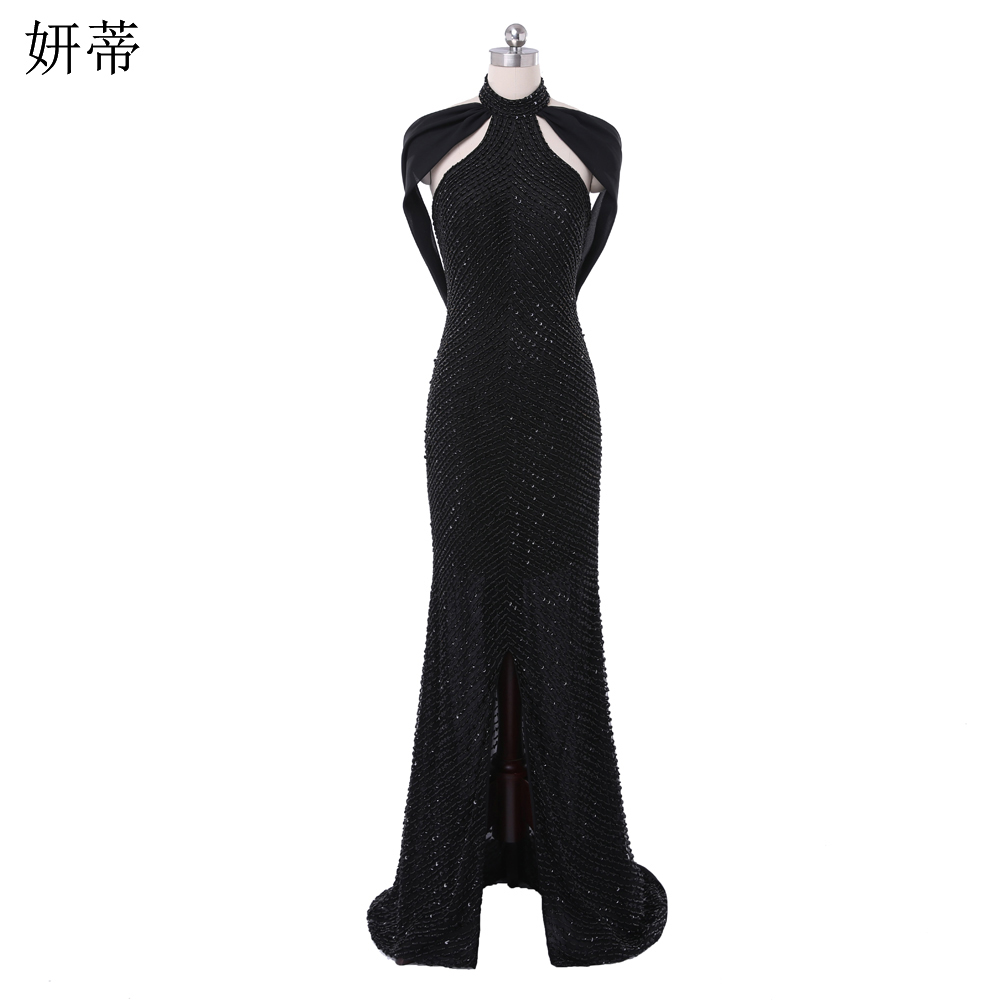 Online Get Cheap Black Halter Neck Prom Dress -Aliexpress.com ...
