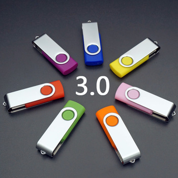 HOT Usb Creativo 8GB/16GB/32GB/64GB/128GB Pendrive Swivel USB 3.0 Flash Drive Memory Stick Pen Drive 512GB Disk On Key Gifts