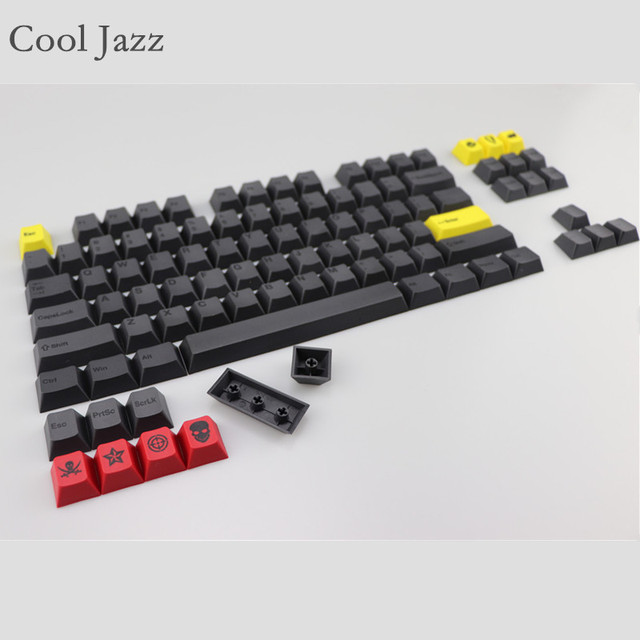 Cool Jazz dye subbed keycap set 96 keys cherry profile for 87 usb wried mechanical gaming keyboard puller pbt keycaps