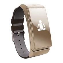 Luxus Stil Abnehmbare Headset Smartwatch Fitness Tracker Armband Unterstützung Bluetooth