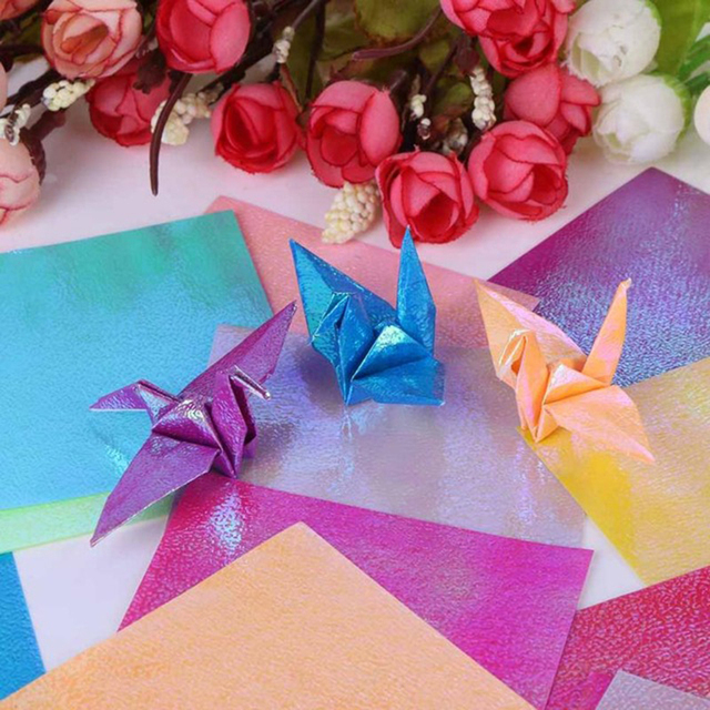 50pcs diy handmade flowers maker square shining origami paper home 50pcs diy handmade flowers maker square shining origami paper home wedding decoration party gift wrapping scrapbooking mightylinksfo