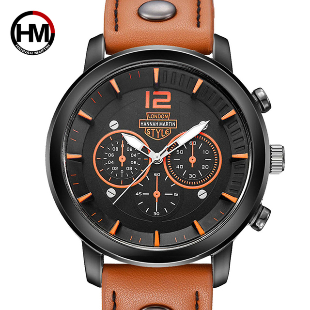 Hot Sports Waterproof Quartz Watches Men Leather Band Male Hand Hand Watch Male