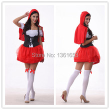 Little red riding hood costume font b COSPLAY b font The fairy tale clothing princess dress