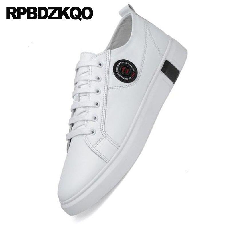 Élégant Formateurs 46 Designer Loisirs Blanche Noir Conduite Britanniques De Taille Chaussures Grande D'été Caoutchouc Confort Marche blanc Respirant Sneakers Skate DEW2IeYH9