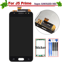 100% Tested for Samsung Galaxy J5 Prime G570F G570 SM G570F LCD Display Touch Screen Digitizer Assembly Replacement Super Amoled