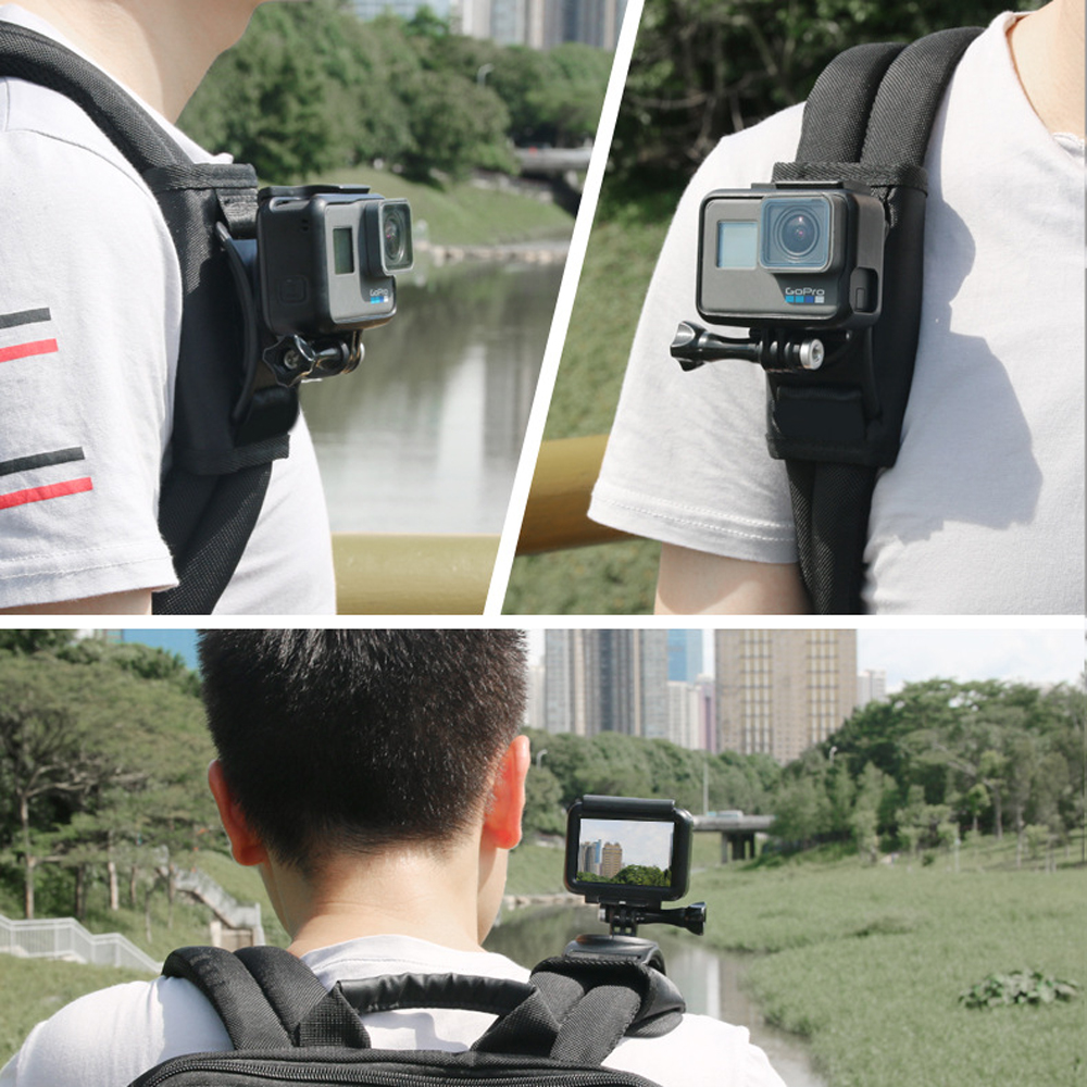 Bakeey Sport Camera Backpack Clip Mount 360 Degree Rotary For Xiaomi Yi for Gopro Hero7 6 5 4 Action Camera Accessories 4