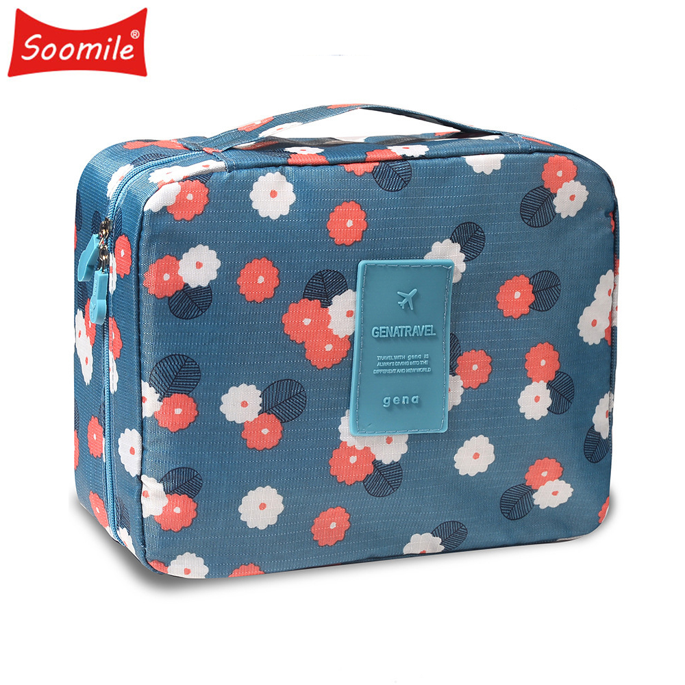 New Female Large Capacity Cosmetic Bag Korean Makeup Bag Women Handbag Portable Organizer  Waterproof Multi-function Travel Bags