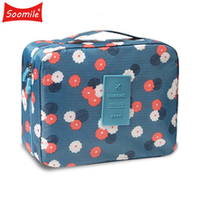 New Female large capacity cosmetic bag Korean makeup bag women handbag portable Organizer  waterproof multi-function travel bags недорого